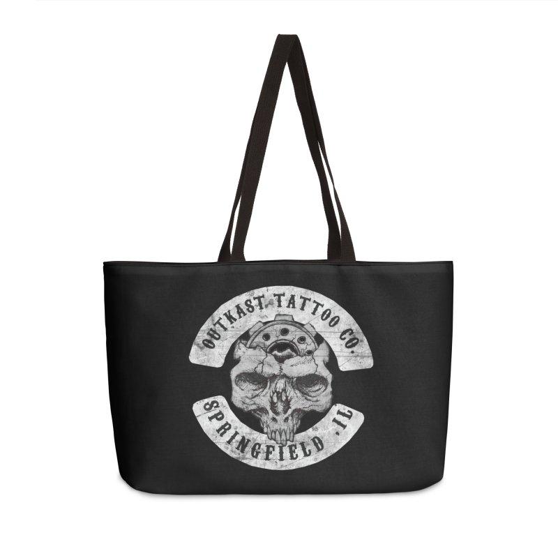 old school skull logo Accessories Bag by OutkastTattooCompany's Artist Shop