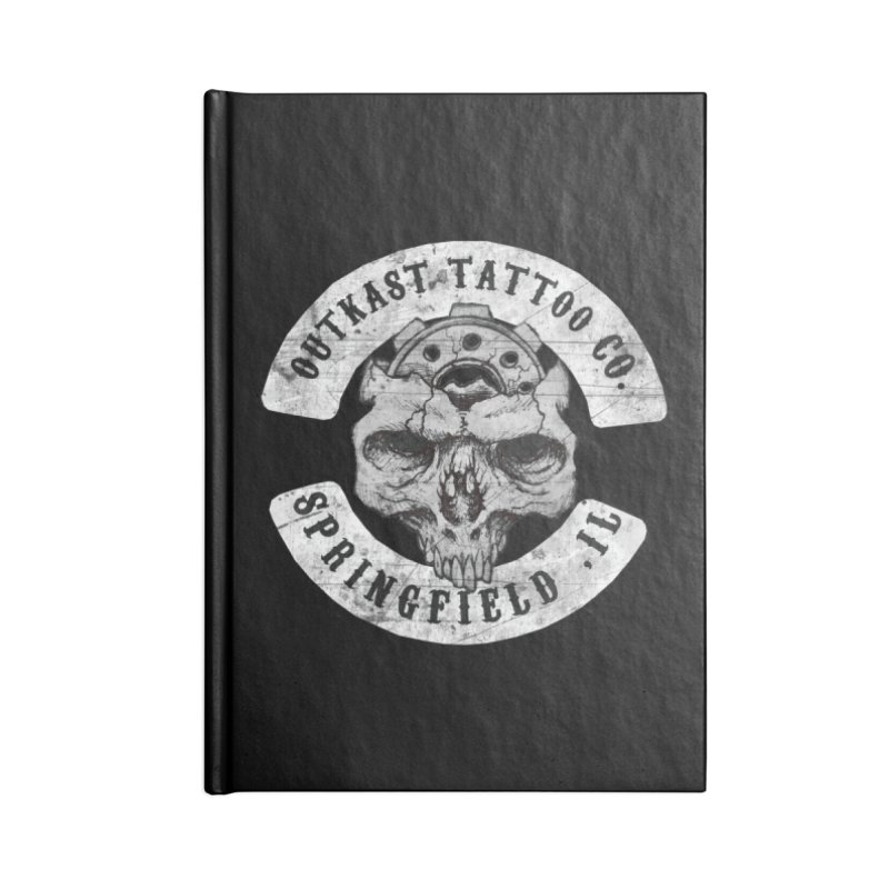 old school skull logo Accessories Notebook by OutkastTattooCompany's Artist Shop