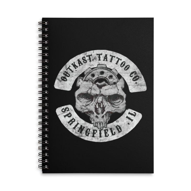old school skull logo Accessories Notebook by OutkastTattooCompany's Artist Shop