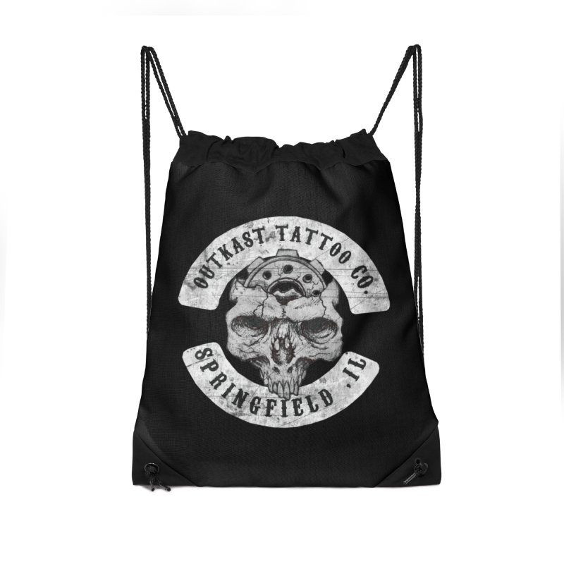 old school skull logo Accessories Bag by OutkastTattooCompany's Artist Shop