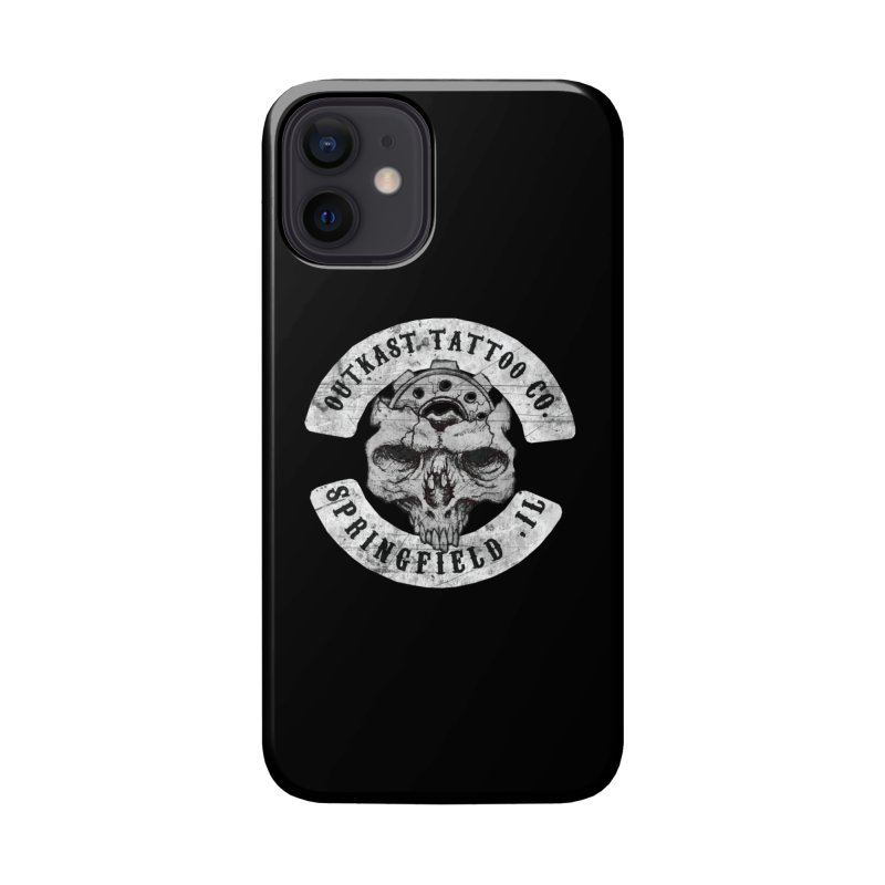 old school skull logo Accessories Phone Case by OutkastTattooCompany's Artist Shop