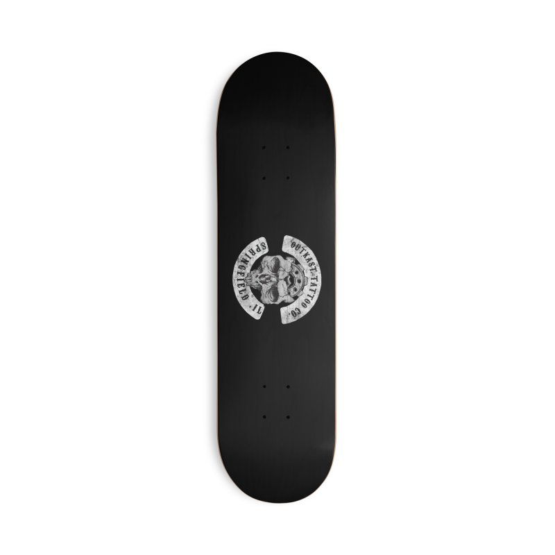 old school skull logo Accessories Skateboard by OutkastTattooCompany's Artist Shop