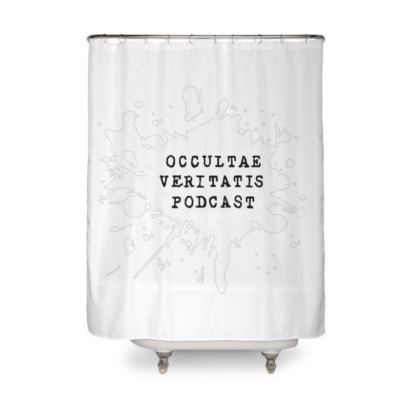 Logo Inverted Home Shower Curtain by Ovpod's Artist Shop