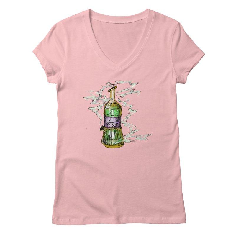 Squishy Poison Bottle Women's V-Neck by Ovpod's Artist Shop