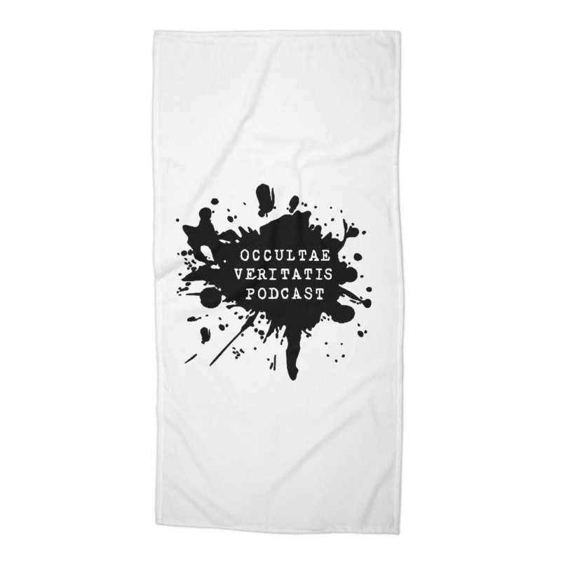 Logo Accessories Beach Towel by Ovpod's Artist Shop