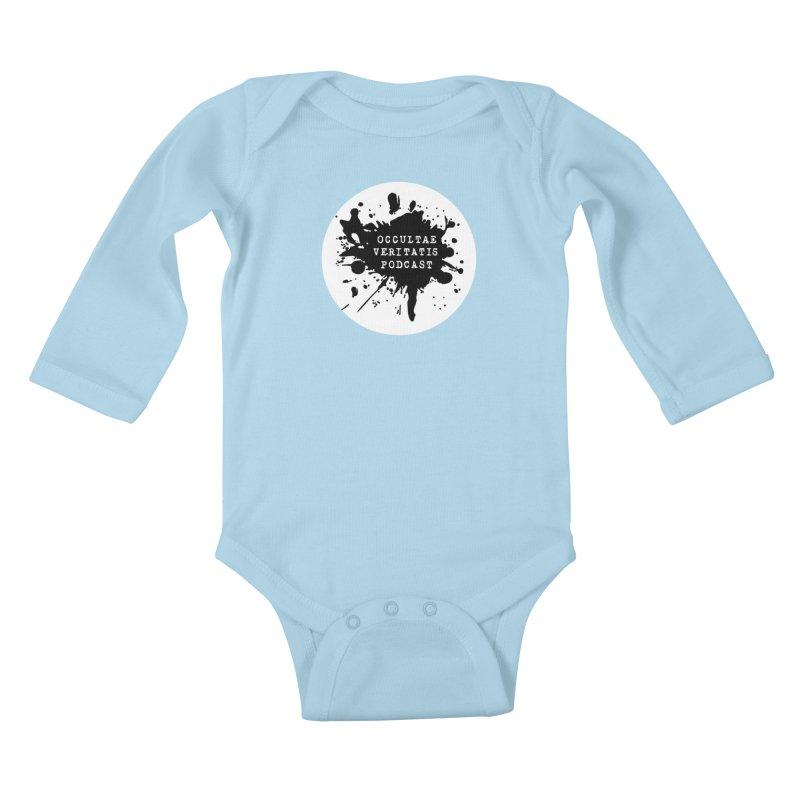 Logo Kids Baby Longsleeve Bodysuit by Ovpod's Artist Shop