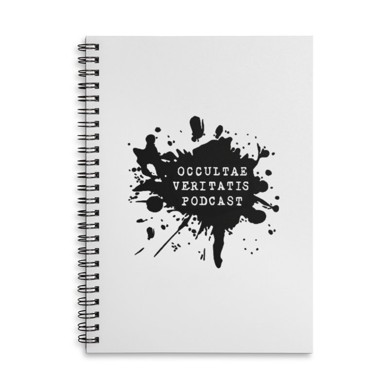 Logo Accessories Lined Spiral Notebook by Ovpod's Artist Shop