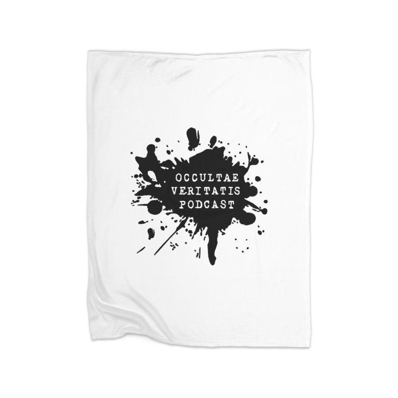 Logo Home Fleece Blanket Blanket by Ovpod's Artist Shop