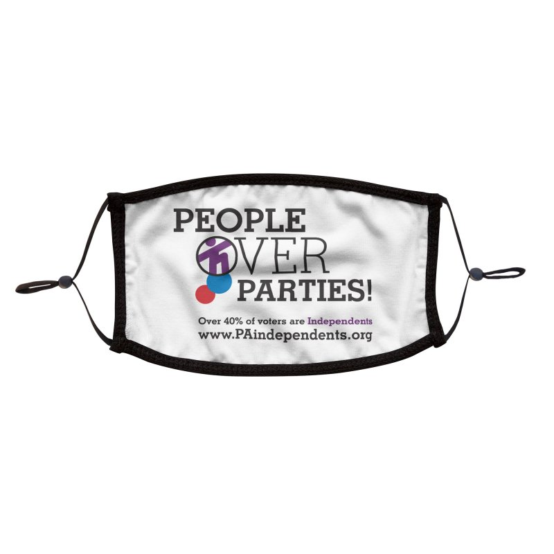 People_Over_Parties_v2 Accessories Face Mask by Independent Pennsylvanian's Shop