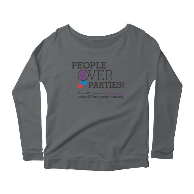 People_Over_Parties_v2 Women's Longsleeve T-Shirt by Independent Pennsylvanian's Shop