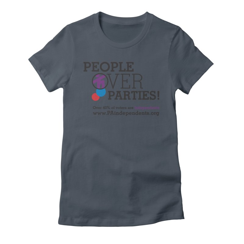 People_Over_Parties_v2 Women's T-Shirt by Independent Pennsylvanian's Shop