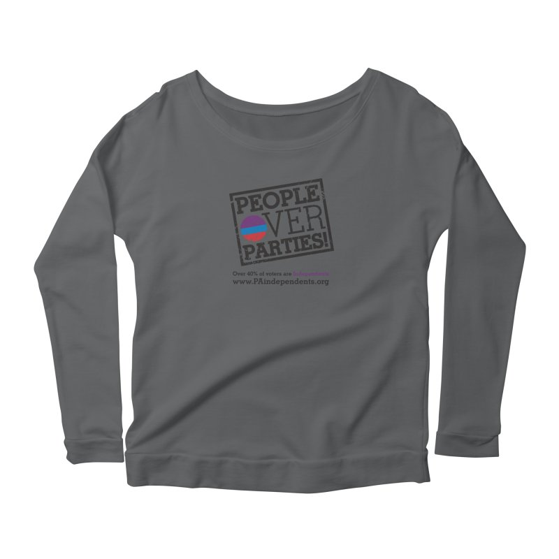 People_Over_Parties_v1 Women's Longsleeve T-Shirt by Independent Pennsylvanian's Shop