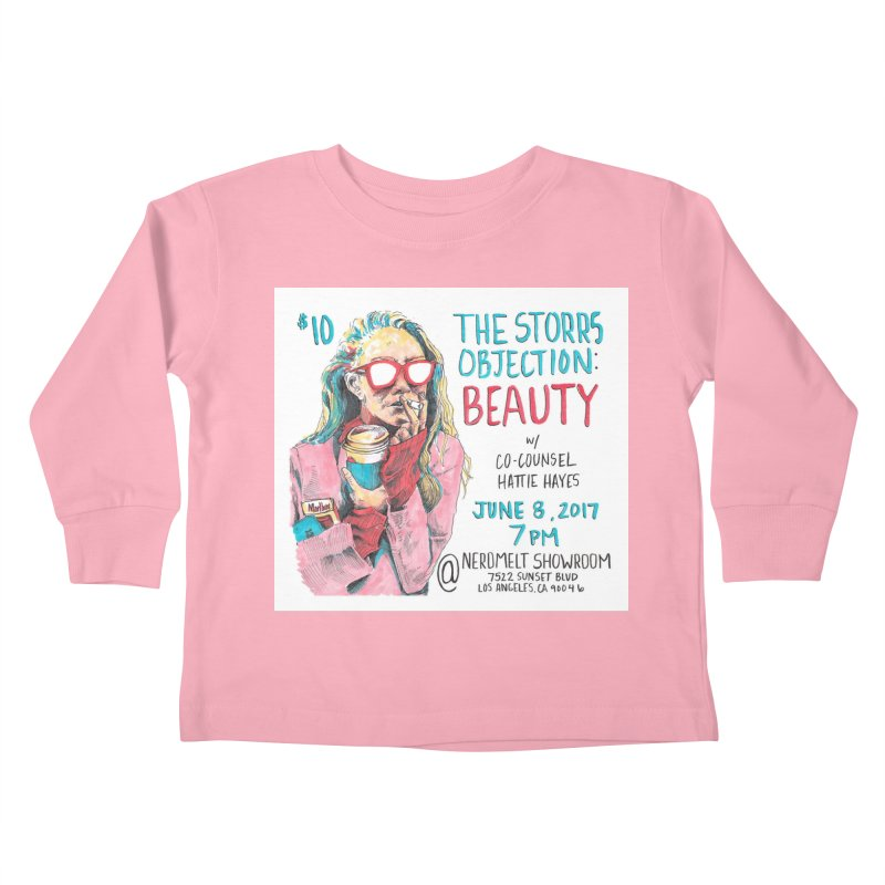 The Storrs Objection: Beauty Kids Toddler Longsleeve T-Shirt by PEP's Artist Shop