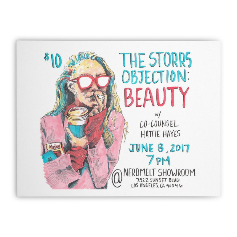 The Storrs Objection: Beauty Home Stretched Canvas by PEP's Artist Shop
