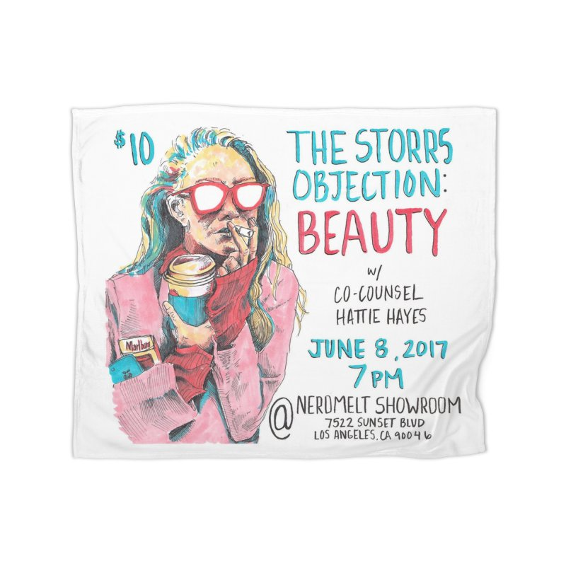 The Storrs Objection: Beauty Home Fleece Blanket Blanket by PEP's Artist Shop