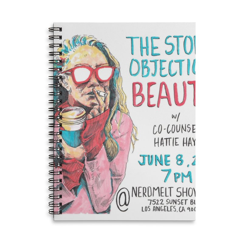 The Storrs Objection: Beauty Accessories Lined Spiral Notebook by PEP's Artist Shop