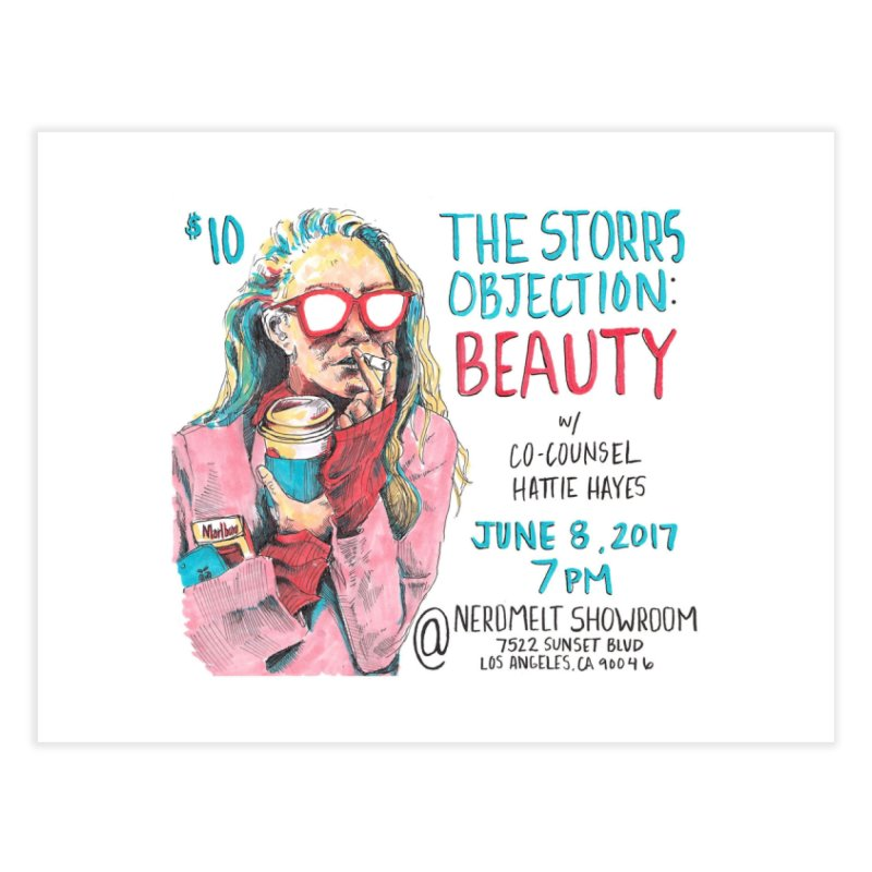 The Storrs Objection: Beauty Home Fine Art Print by PEP's Artist Shop