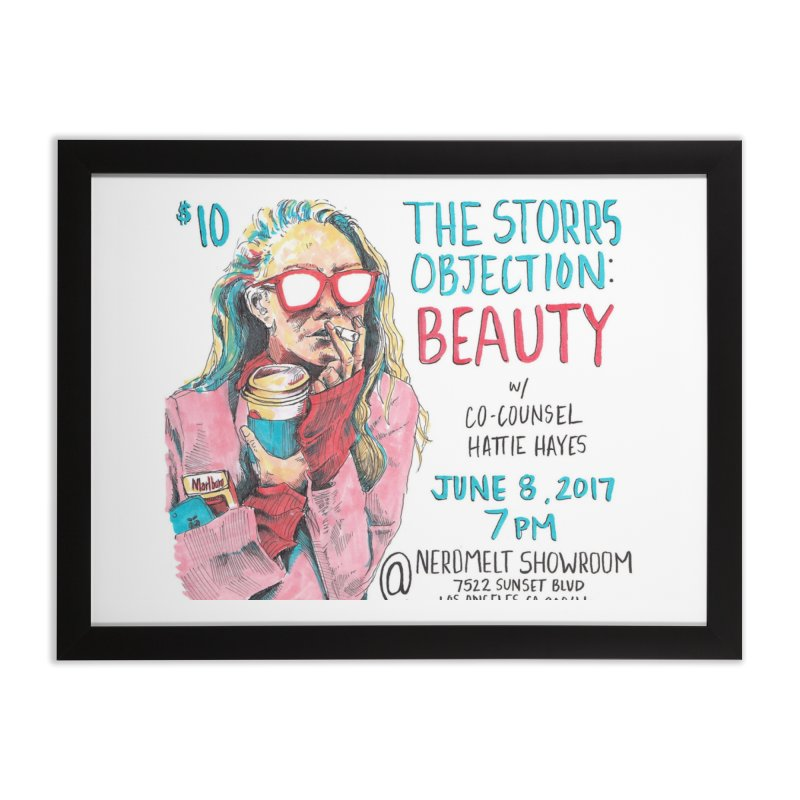 The Storrs Objection: Beauty Home Framed Fine Art Print by PEP's Artist Shop