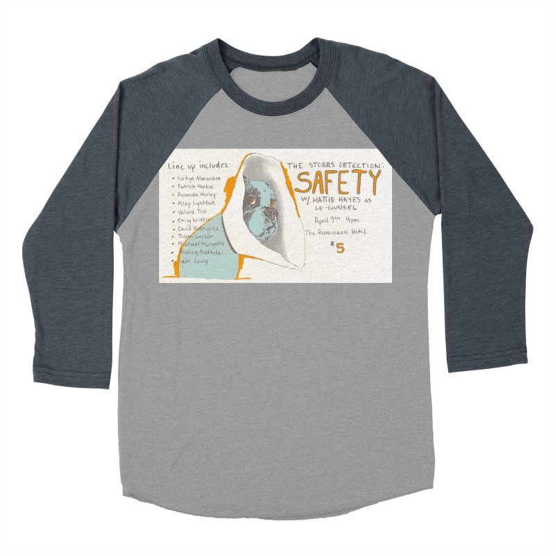 The Storrs Objection: Safety Men's Baseball Triblend T-Shirt by PEP's Artist Shop