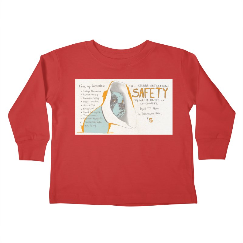 The Storrs Objection: Safety Kids Toddler Longsleeve T-Shirt by PEP's Artist Shop