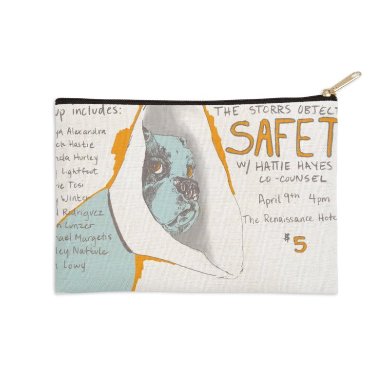 The Storrs Objection: Safety Accessories Zip Pouch by PEP's Artist Shop