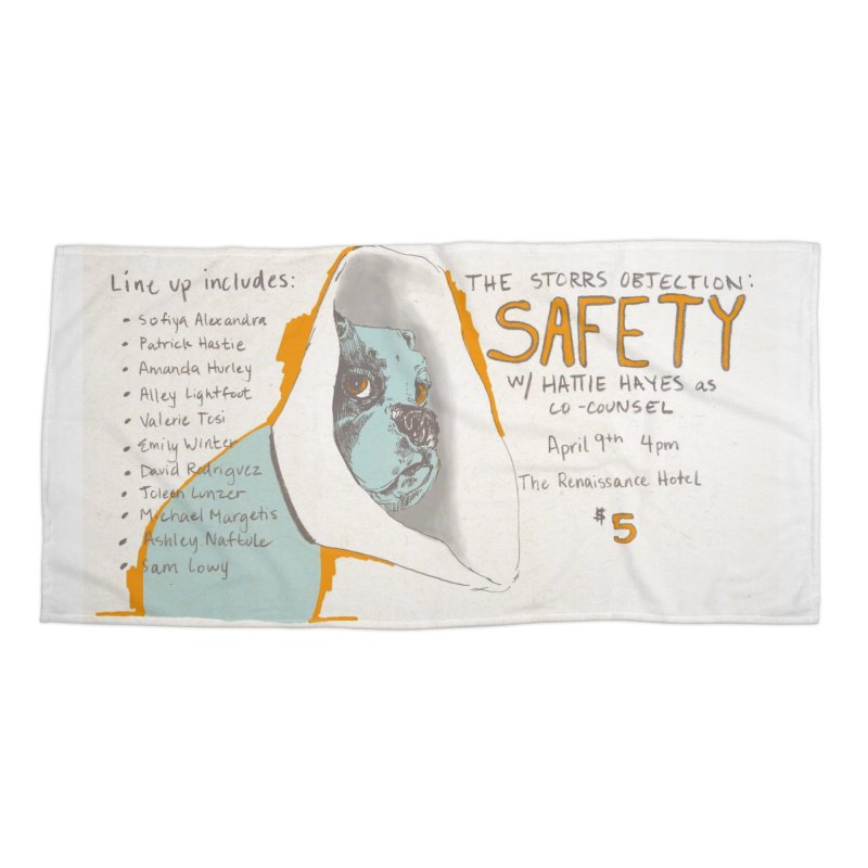 The Storrs Objection: Safety Accessories Beach Towel by PEP's Artist Shop