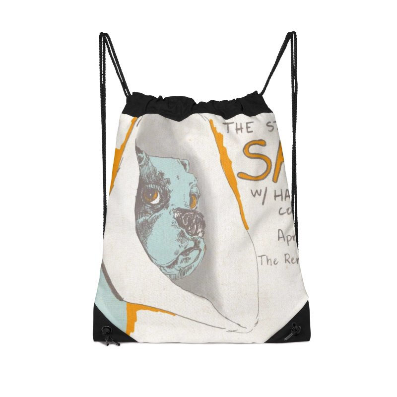 The Storrs Objection: Safety Accessories Drawstring Bag Bag by PEP's Artist Shop