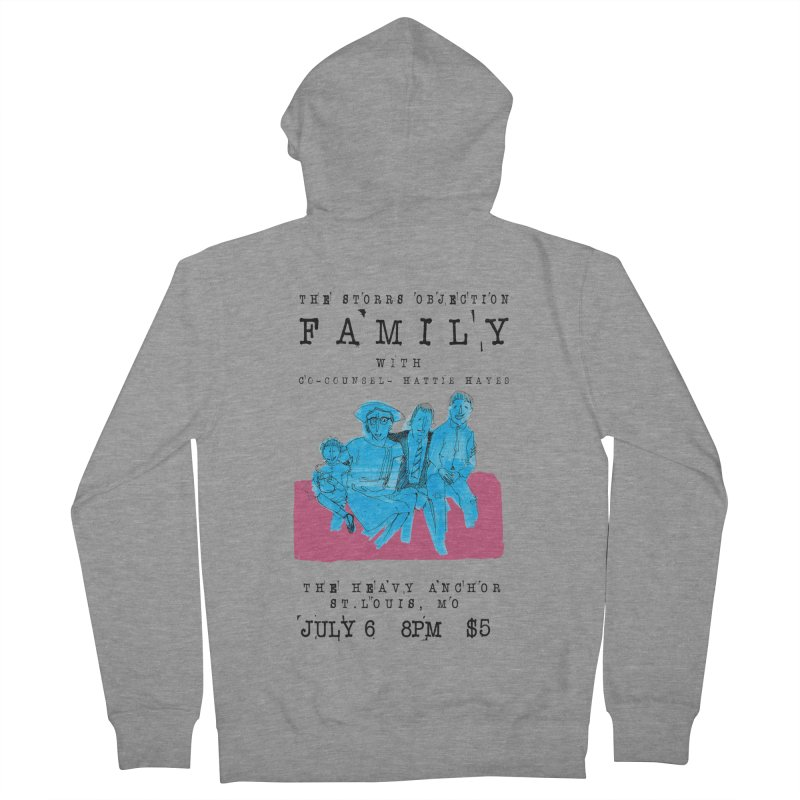 The Storrs Objection: Family Men's Zip-Up Hoody by PEP's Artist Shop
