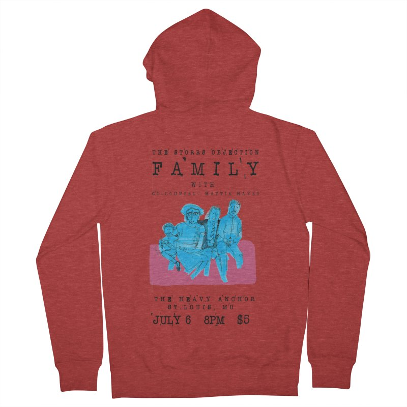 The Storrs Objection: Family Men's French Terry Zip-Up Hoody by PEP's Artist Shop