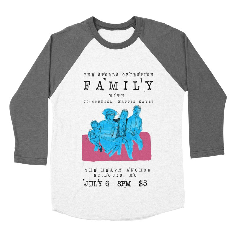 The Storrs Objection: Family Men's Baseball Triblend T-Shirt by PEP's Artist Shop