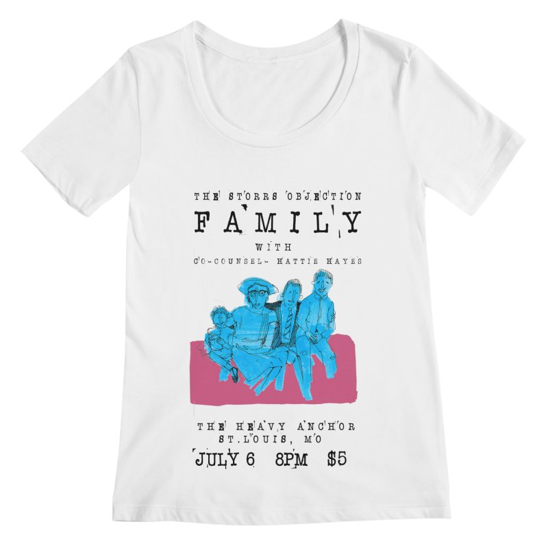 The Storrs Objection: Family Women's Scoopneck by PEP's Artist Shop
