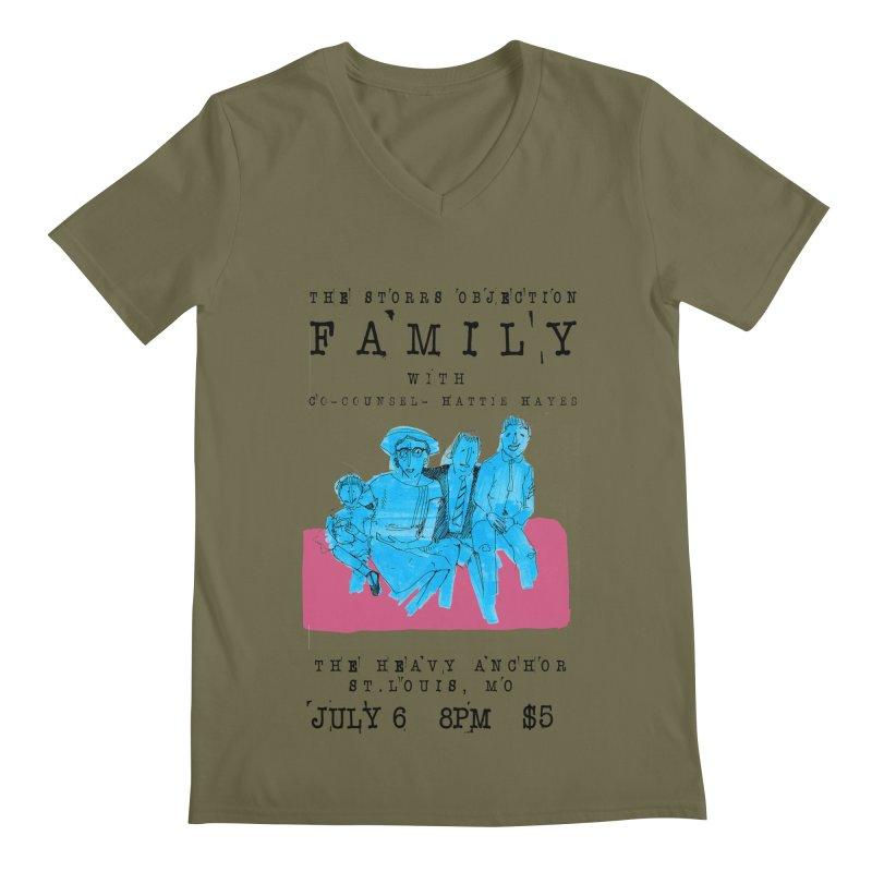 The Storrs Objection: Family Men's Regular V-Neck by PEP's Artist Shop