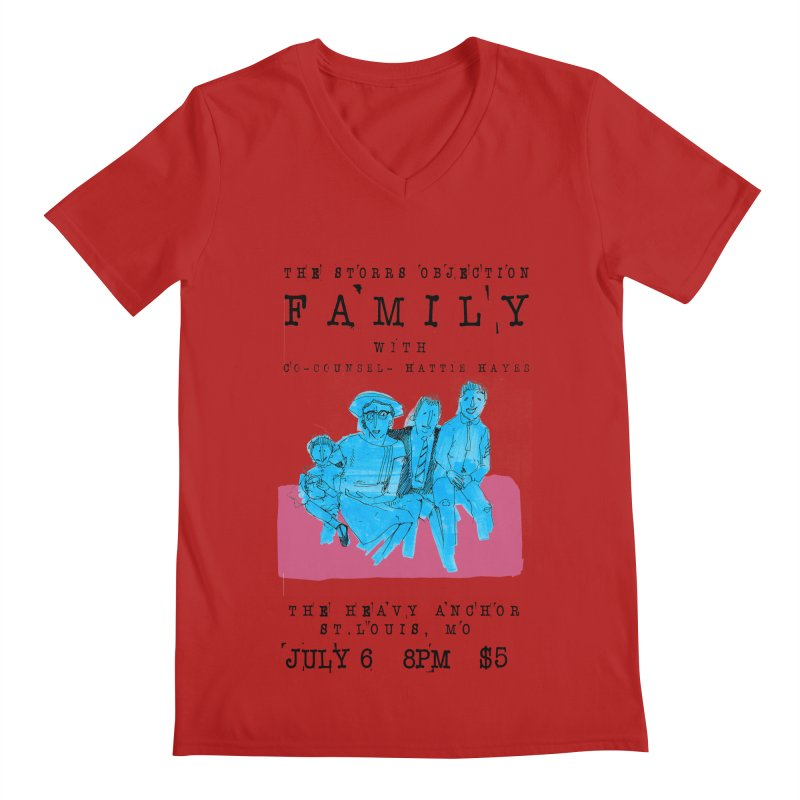The Storrs Objection: Family Men's V-Neck by PEP's Artist Shop