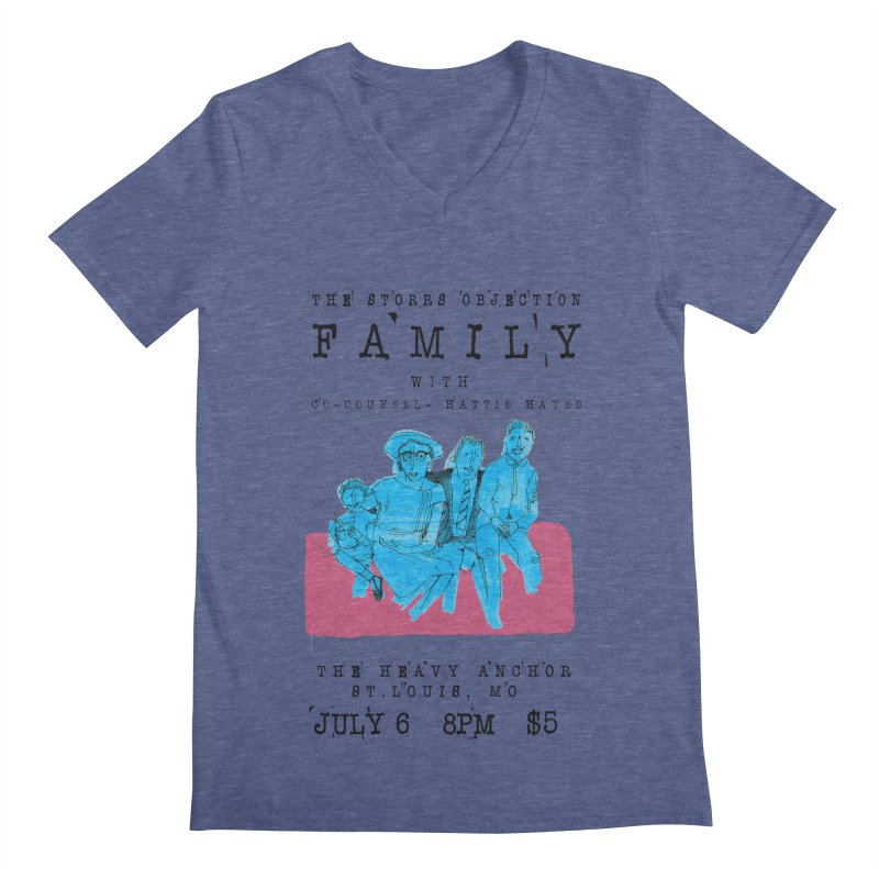The Storrs Objection: Family Men's Regular V-Neck by PEP's Artist Shop