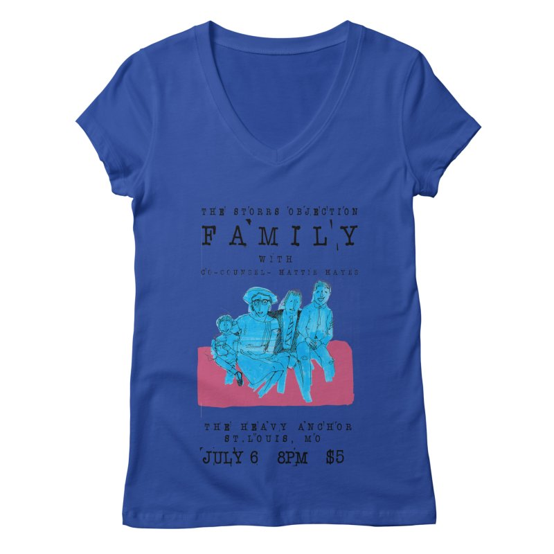 The Storrs Objection: Family Women's V-Neck by PEP's Artist Shop