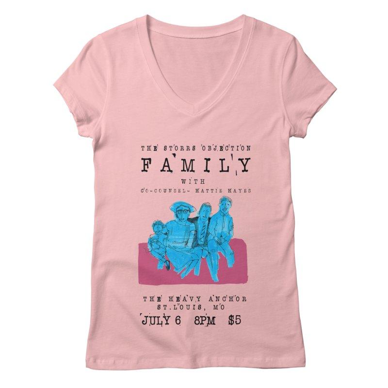 The Storrs Objection: Family Women's V-Neck by PEP's Artist Shop