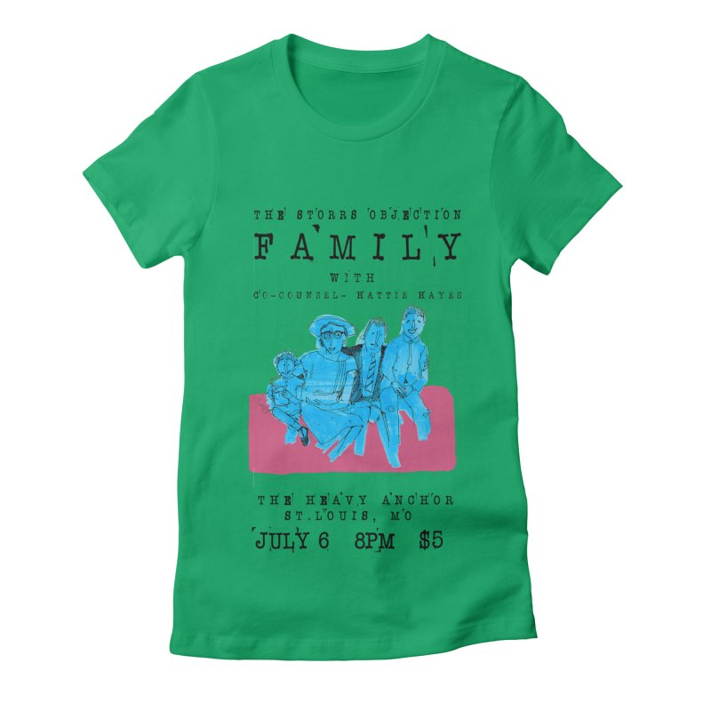The Storrs Objection: Family Women's Fitted T-Shirt by PEP's Artist Shop