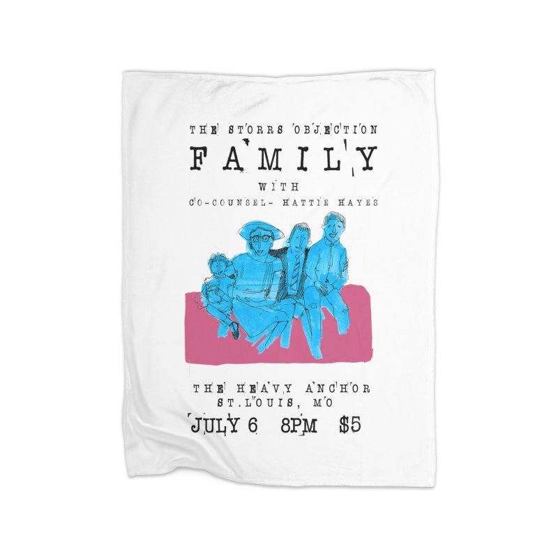 The Storrs Objection: Family Home Fleece Blanket Blanket by PEP's Artist Shop