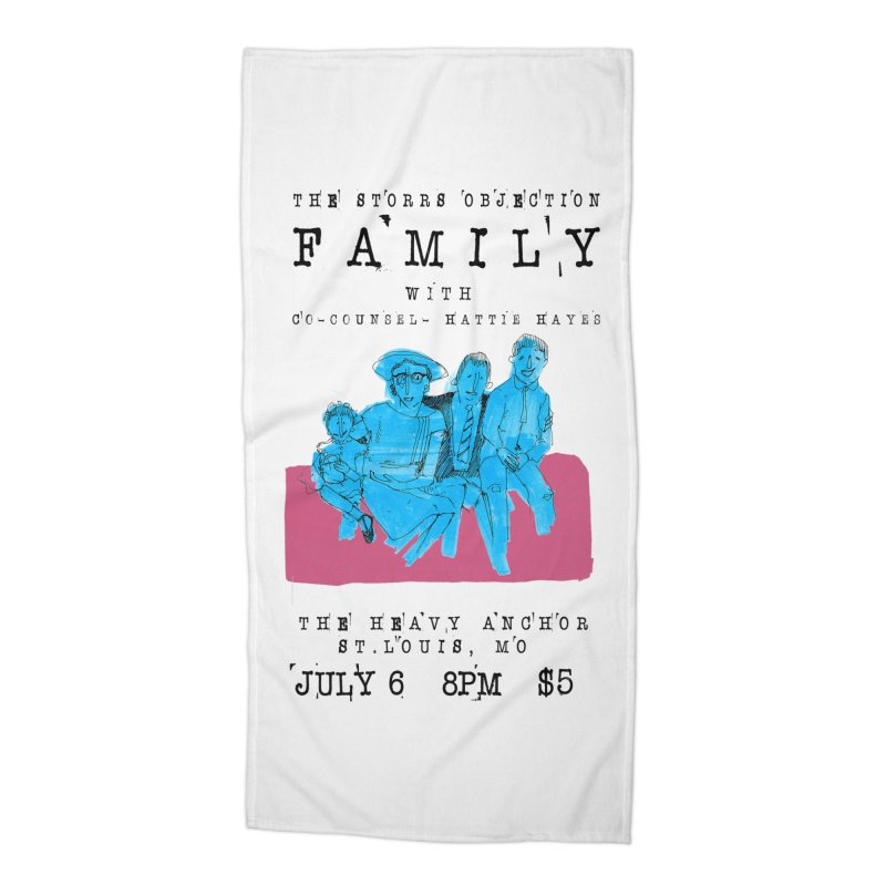 The Storrs Objection: Family Accessories Beach Towel by PEP's Artist Shop