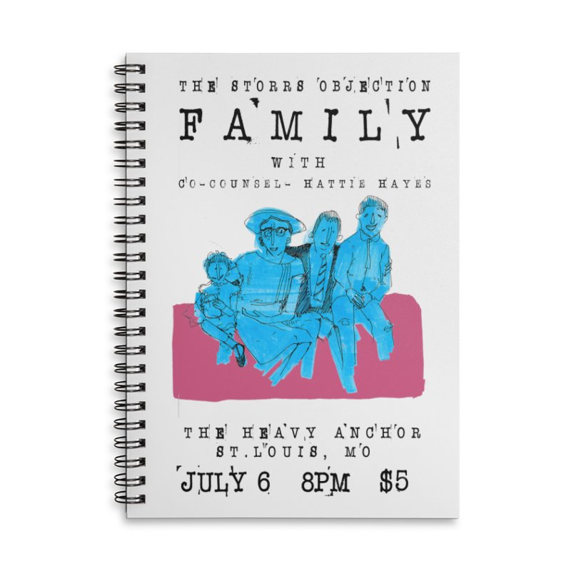 The Storrs Objection: Family Accessories Lined Spiral Notebook by PEP's Artist Shop