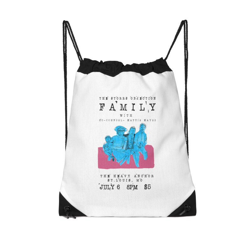 The Storrs Objection: Family Accessories Drawstring Bag Bag by PEP's Artist Shop