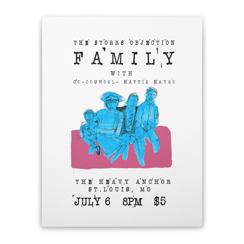 The Storrs Objection: Family Home Stretched Canvas by PEP's Artist Shop