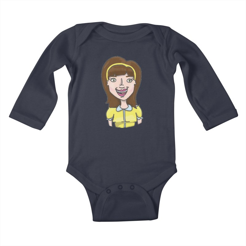 Hattie Hayes Kids Baby Longsleeve Bodysuit by PEP's Artist Shop