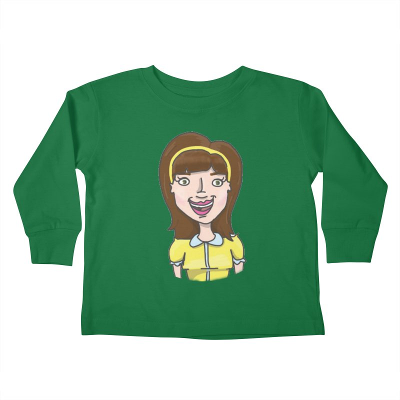 Hattie Hayes Kids Toddler Longsleeve T-Shirt by PEP's Artist Shop