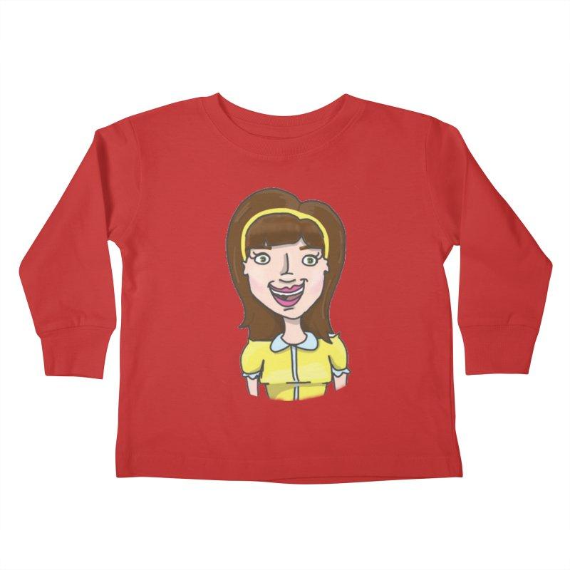 Hattie Hayes Kids Toddler Longsleeve T-Shirt by PEP's Artist Shop