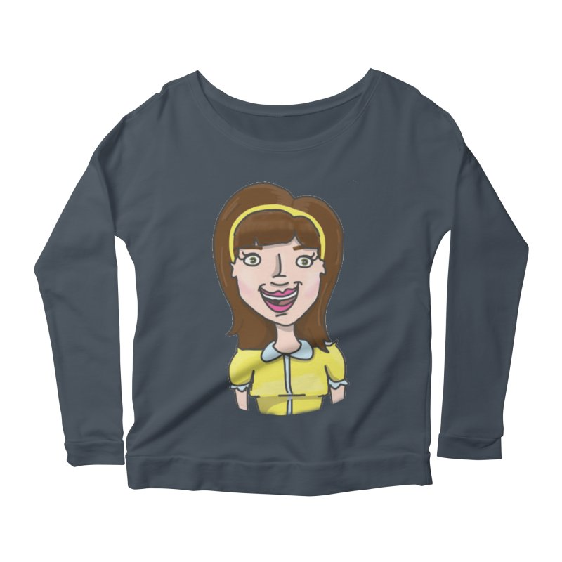 Hattie Hayes Women's Scoop Neck Longsleeve T-Shirt by PEP's Artist Shop