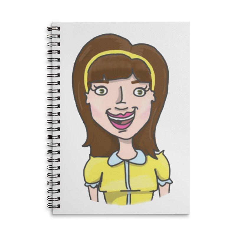 Hattie Hayes Accessories Lined Spiral Notebook by PEP's Artist Shop