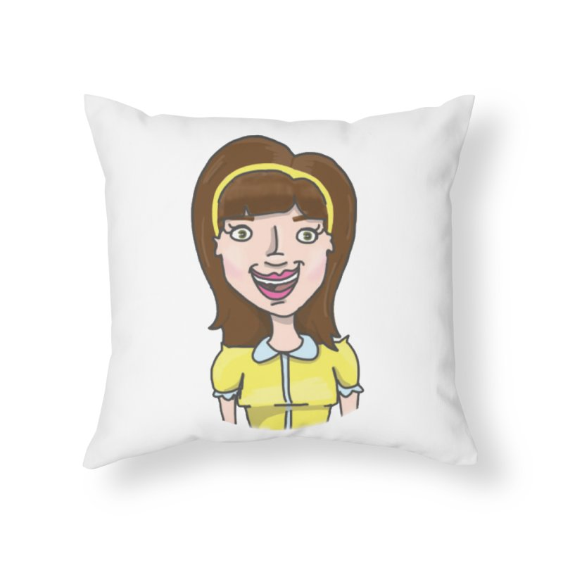 Hattie Hayes Home Throw Pillow by PEP's Artist Shop