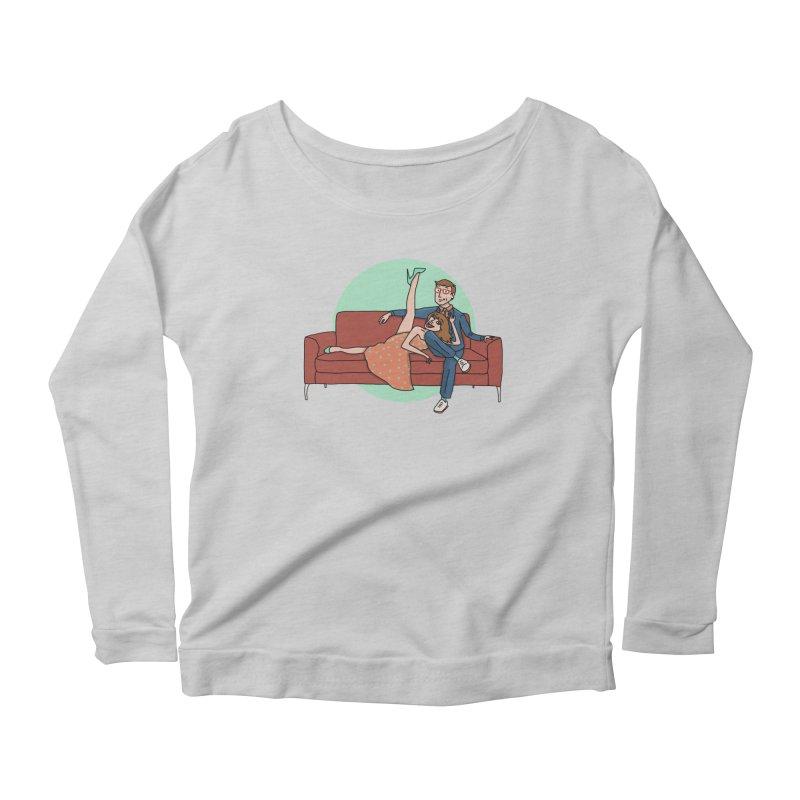Hattie and Matt Women's Scoop Neck Longsleeve T-Shirt by PEP's Artist Shop