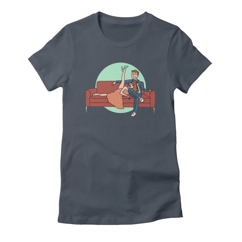 Hattie and Matt Women's Fitted T-Shirt by PEP's Artist Shop